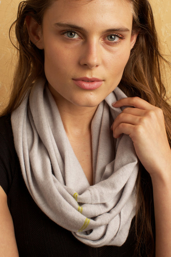 Cashmere Blend Infinity Scarf Cement