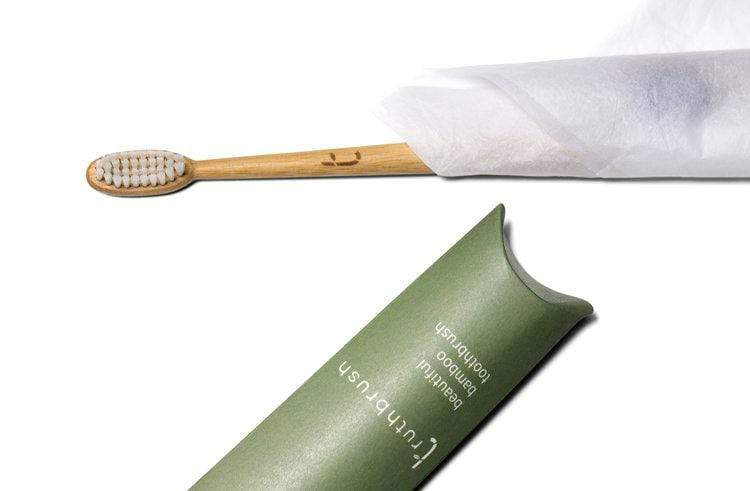 Bamboo Toothbrush with Soft Plant Based Bristles in cloud white- Zero_Waste_Hub