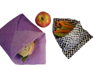 Reusable Beeswax food wrap- Set of 3 (S,M,L)- Purple *Handmade*- Zero_Waste_Hub
