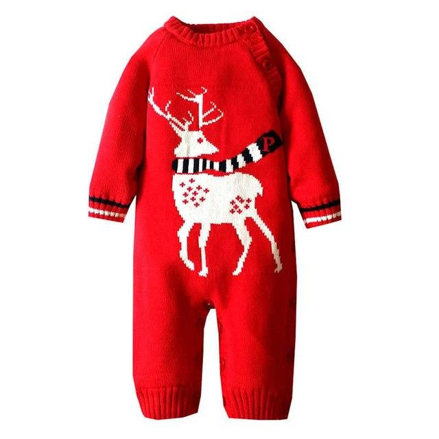 87314be24a2 Newborn Baby Clothes Winter Crochet Baby Clothing Infant Christmas ...