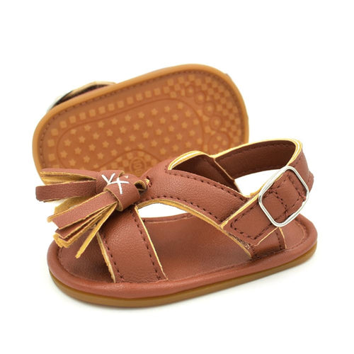 Summer Baby Kids Sandals Shoes Unisex Baby Crib Shoes Sneakers Tassels Soft Soled Fashion Sandals 0 to 18M