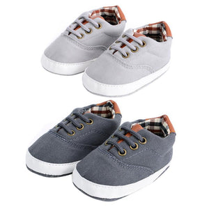 Toddler Baby Canvas Shoes Laces Casual Sneaker Soft Sole First Walker Anti-skid Sneaker Shoes for Children Kids Girls Footwear