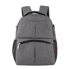 Load image into Gallery viewer, Insular Solid Color Baby Diaper Changing Backpack Bag Multifunctional Baby Mommy Bag Waterproof Mummy Nappy Stroller Backpack