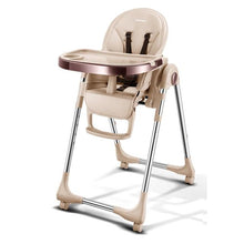 Load image into Gallery viewer, Portable High Chair For Baby Foldable Baby Highchairs for Feedding Adjustable Booster Seat For Dinner Table With Four Wheels