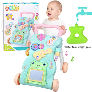 Multifunctional Baby Stroller Walker with Music Babies Learn to Walk and Stand Preventing Rollovers