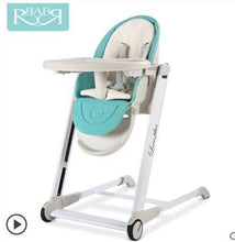 Load image into Gallery viewer, High Quality Export Aluminium Frame Baby Feeding Chair Food Tray Included Booster Newborn Seat Can Sleep baby high chair