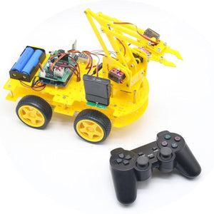 Hot New DIY meArm Robot Arm Car for Ardunio Program with PS Wireless Remote Control Toy Model For Kids Gift