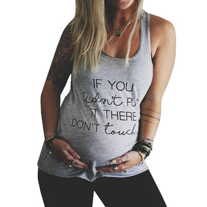 Summer Alphabetic Printing Blouse Top Women Sleeveless Casual T-Shirt Loose Pregnant Sexy Bump Tee Tank Tops Plus Size 5XL
