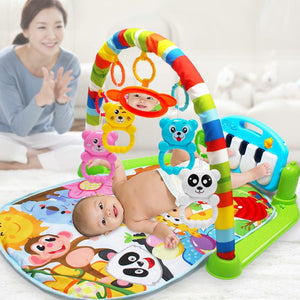 Kids Children Fitness Rack Baby Toys Piano Music Blanket Play Plastic Intellectual Development M09