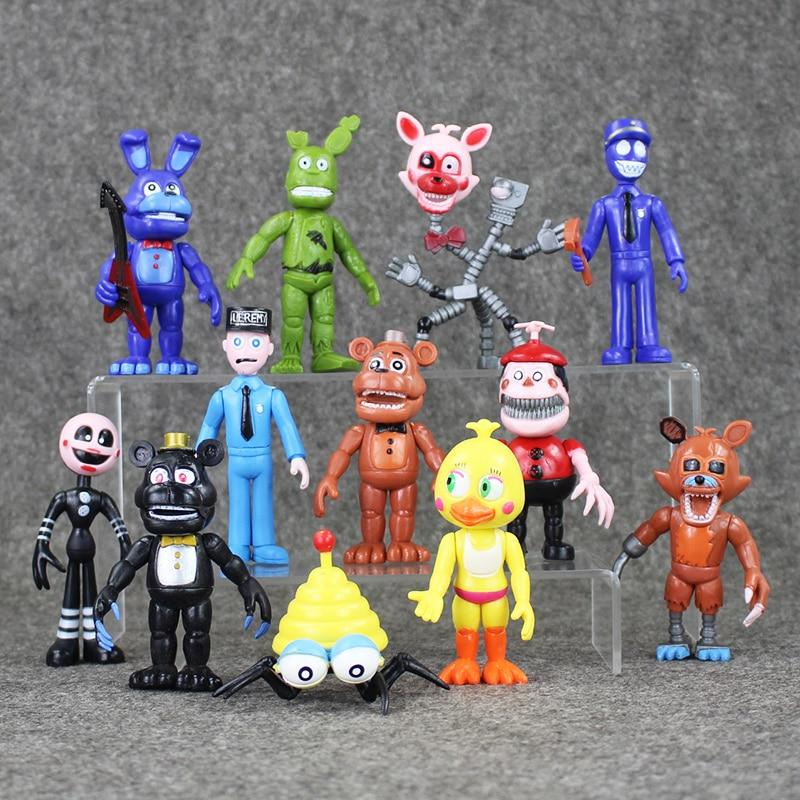 NEW 12PCS/SET FNAF Figure Dolls Action Figures Kid Toys Christmas Gifts Toys 5-9cm in stock for Christmas WJ433