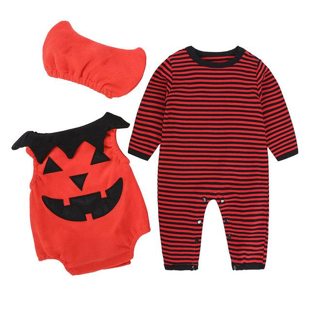 New Winter Baby Boy Girl Clothes Sets 2018 Halloween Costume For Kids Clothes Sets 3Pcs Cotton Newborn Infant Girl Clothing Sets