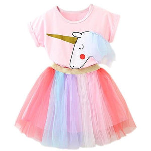 Kids Baby Colorful Dress Halloween Carnival Party Costumes Sweet Girls School Casual Dress Rainbow Princess Girls 2 3 4 5 6 Year