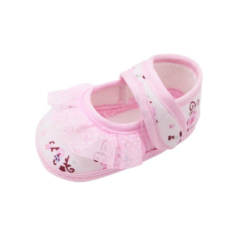 Fashion Girls Lace Print Princess Shoes