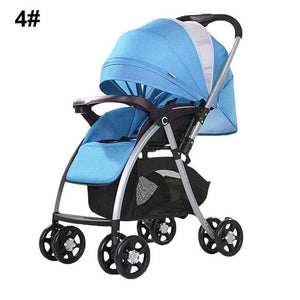 High View Baby Stroller Pram High Landscape Baby Stroller Baby Can Sit And Lie Taga Bike Stroller Foldable Baby Throne Carrinho