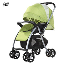 Load image into Gallery viewer, High View Baby Stroller Pram High Landscape Baby Stroller Baby Can Sit And Lie Taga Bike Stroller Foldable Baby Throne Carrinho