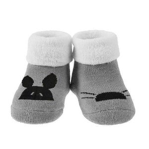 Winter Newborn Baby Socks Cartoon Animal Loop Pile Warm Casual Indoor Floor Socks Breathable Anti-Skid Towel Socks