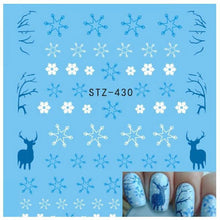Load image into Gallery viewer, Snowflake Flower Nail Art 1 Sheet