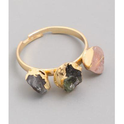 Rose Gia Gemstone Trio Ring