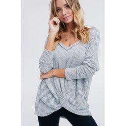 A Little Twisted Tunic Gray