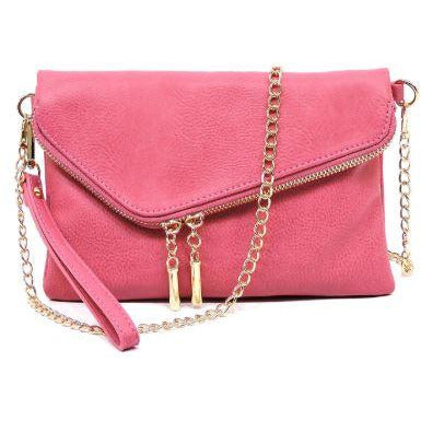 Envelope Foldover Clutch Rose