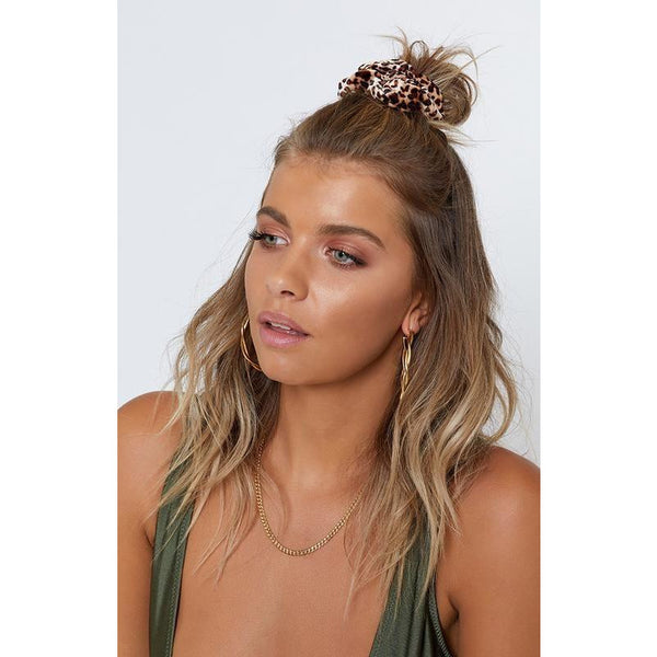 Brown Leopard Scrunchie Set Wild Side Revolve Nordstrom