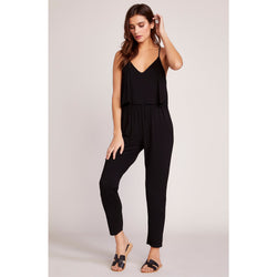 One and Done Racerback Black Jumpsuit