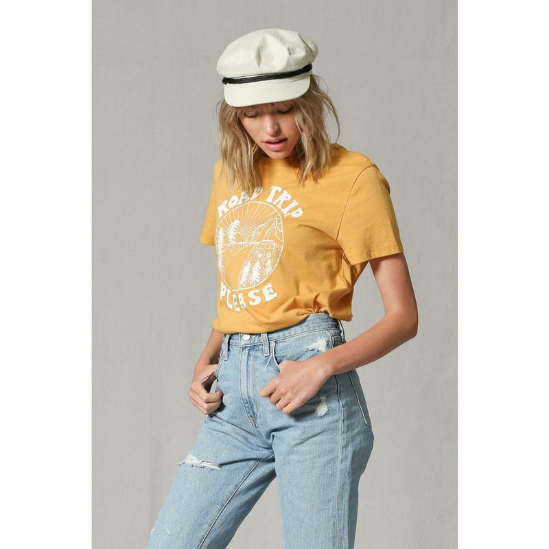 Mustard Road Trip Please Graphic Tee Shirt