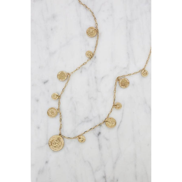Mermaid's Treasure Gold Layering Coin Necklace