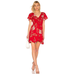 Love Back Atcha Scooter Red Ruffle Dress Revolve BB Dakota
