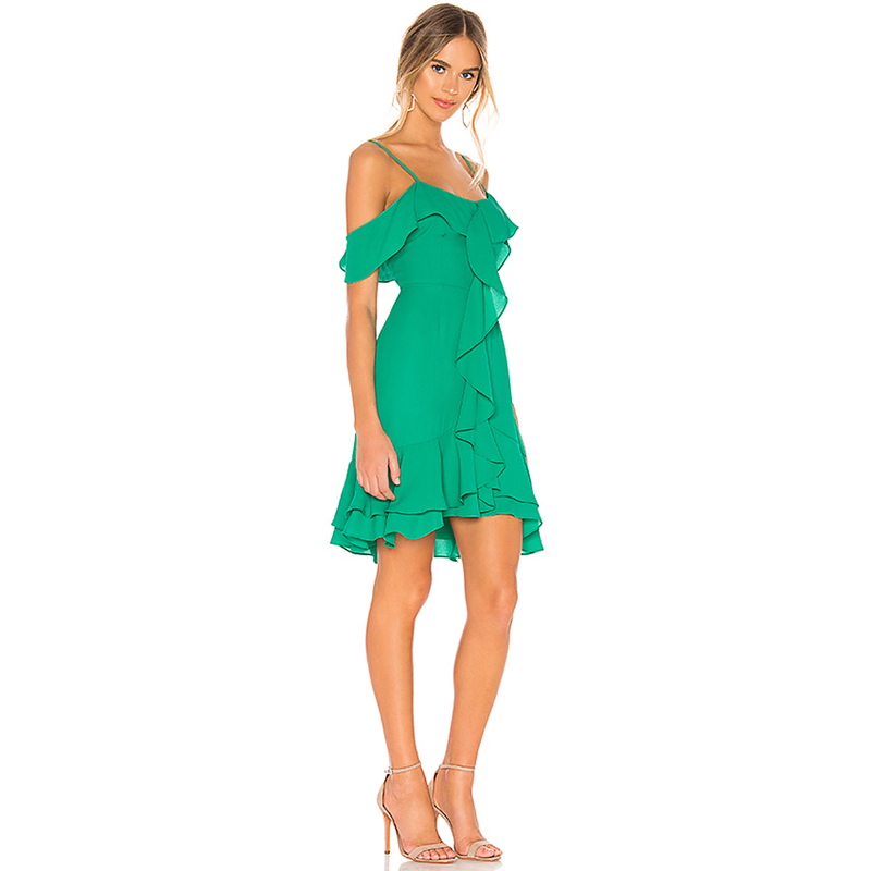 Make An Entrance Green Dress Revolve BB Dakota