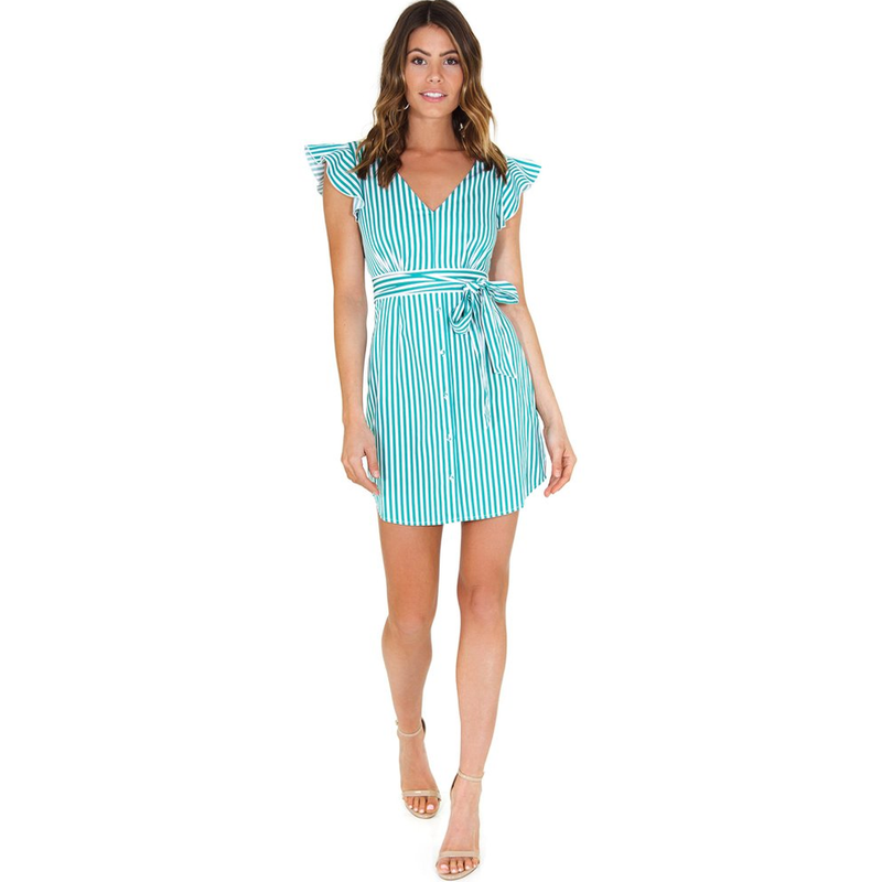 Peppermint Stripe Dress Kelly Green Nordstrom Revolve BB Dakota