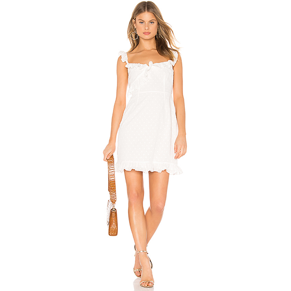 Say No More Dress White Ruffle Dress Revolve BB Dakota