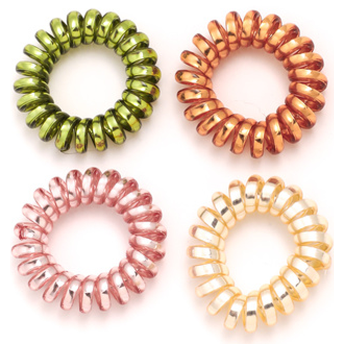 Telephone Cord Tie Set Mini Spiral Hair Ties Urban Outfitters