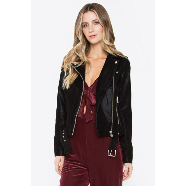 Have Mercy Black Moto Jacket SugarLips Revolve Nordstrom