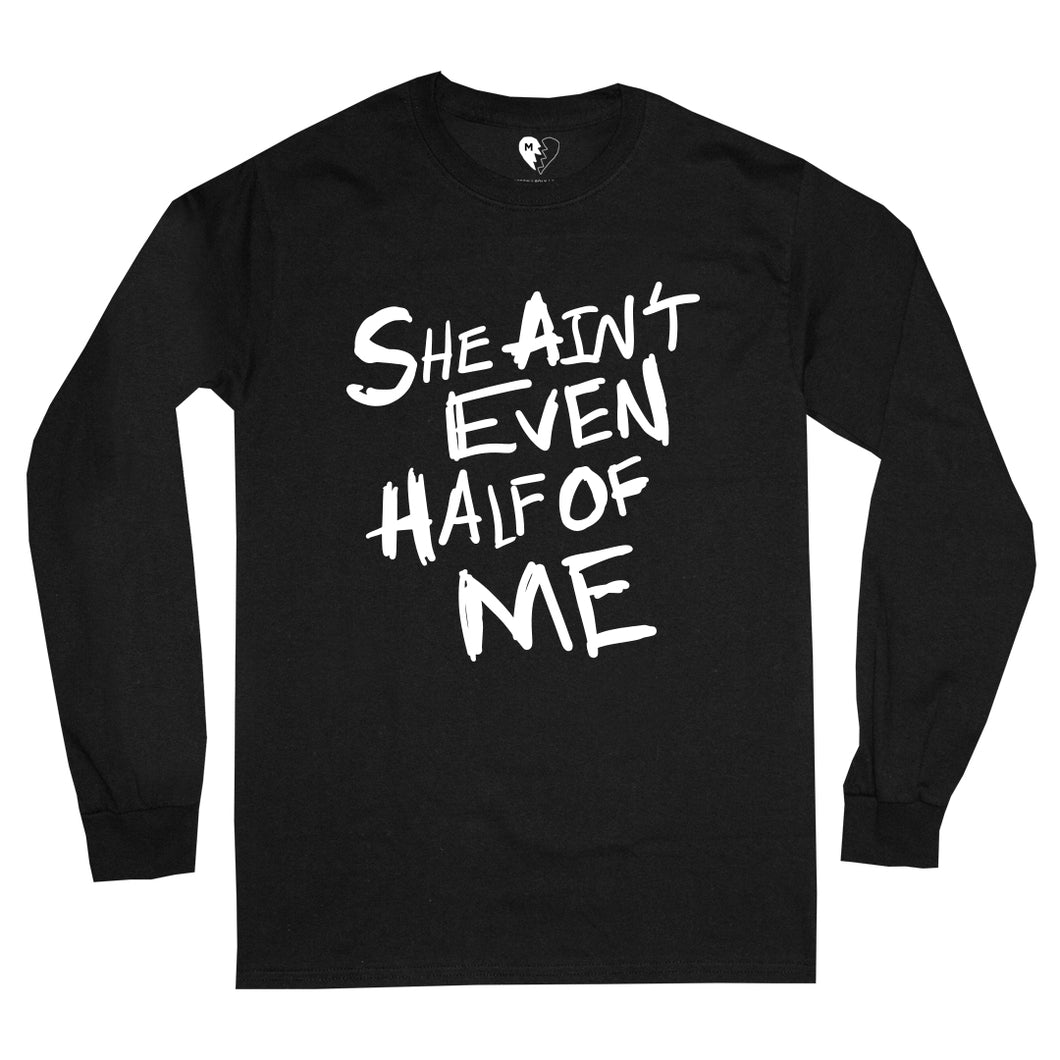 HALF OF ME LS TEE (BLACK)