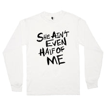 Load image into Gallery viewer, HALF OF ME LS TEE (WHITE)