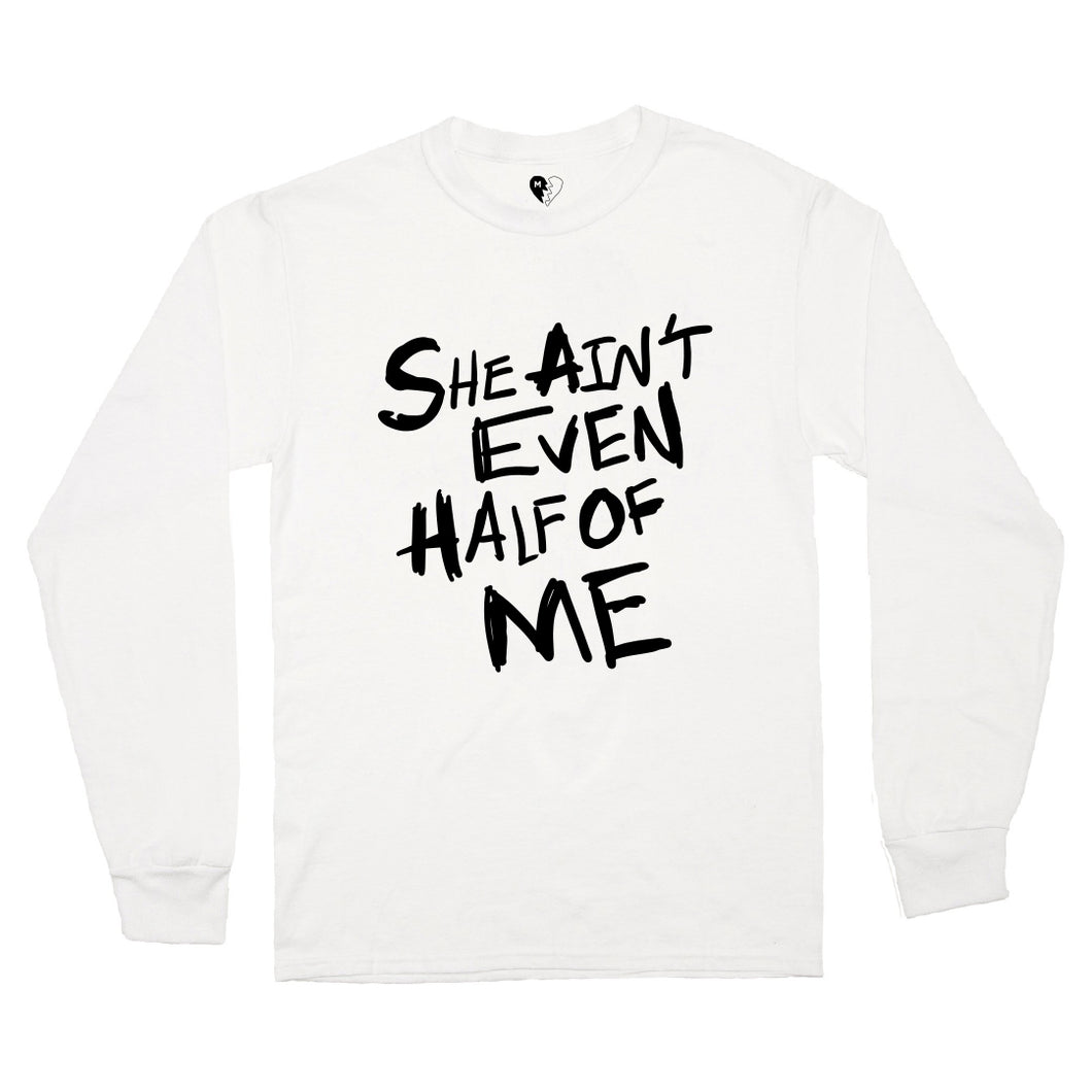HALF OF ME LS TEE (WHITE)