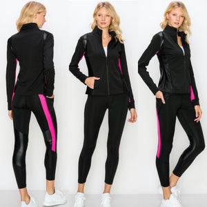 Black & Pink Active Set