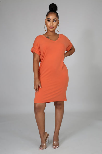 Comfy Time Tunic - Orange