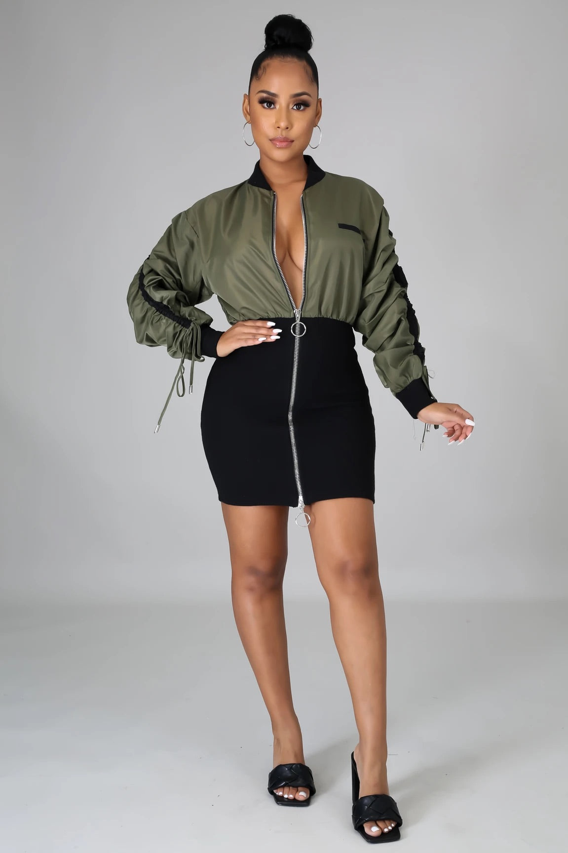 Baddie Bomber Dress