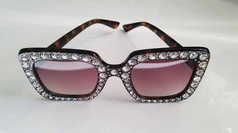 Brown Bling Glasses