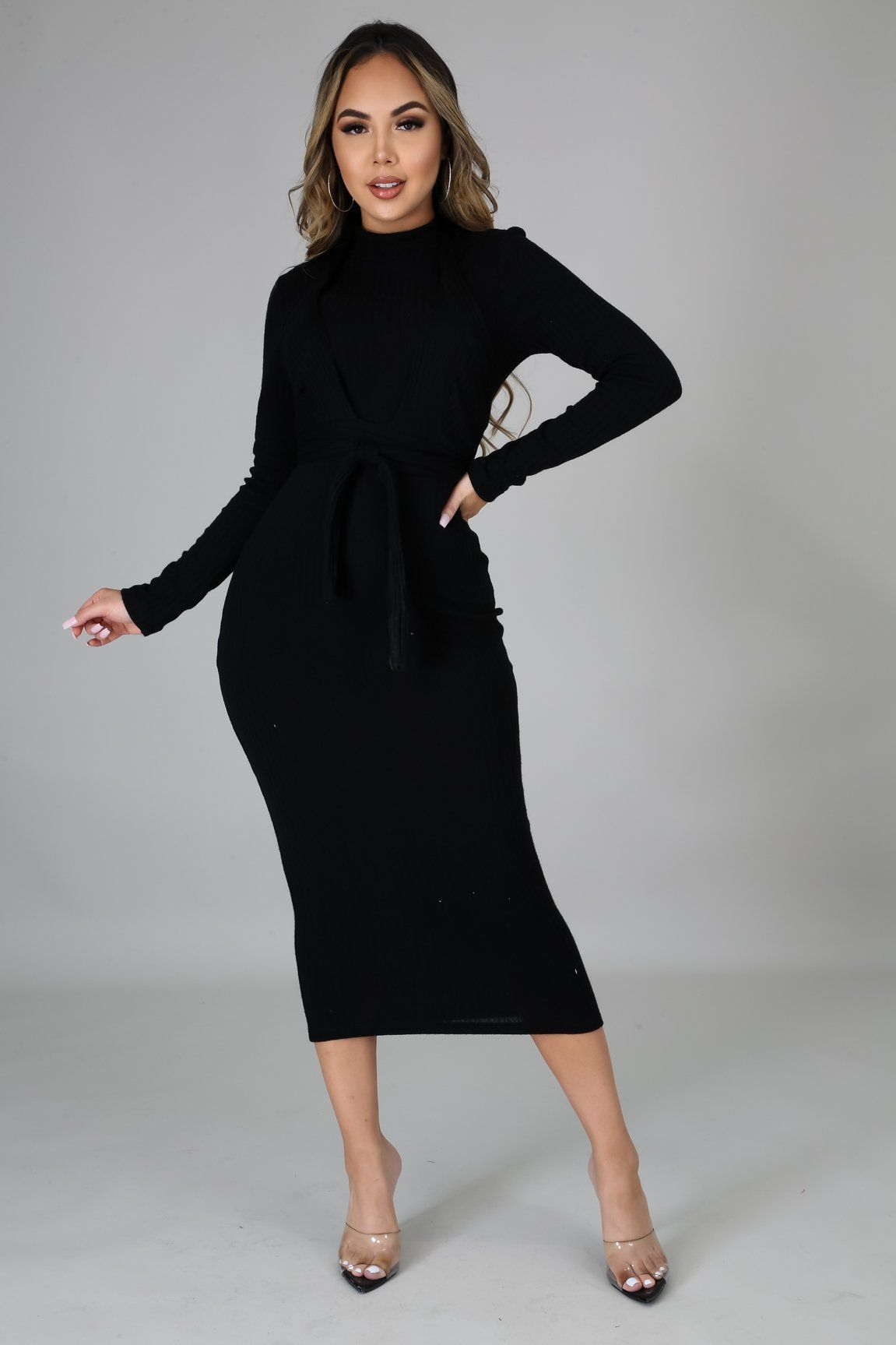 Alexa 2pc Dress Set - Black