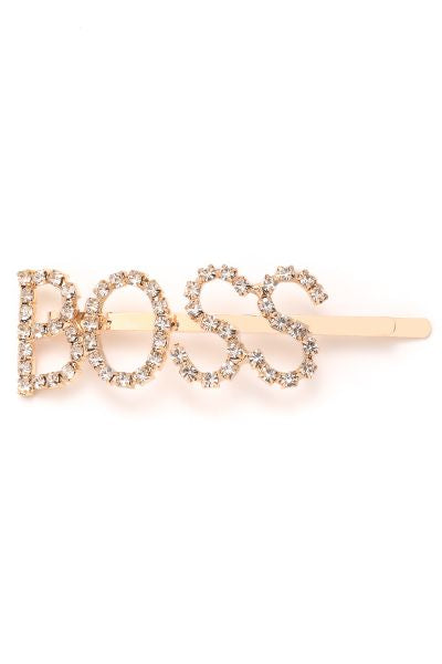 Gold Rhinestone Hair Pin Clips