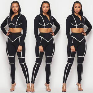 Black Reflective Set
