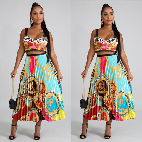 De$igner Vibes Skirt Set