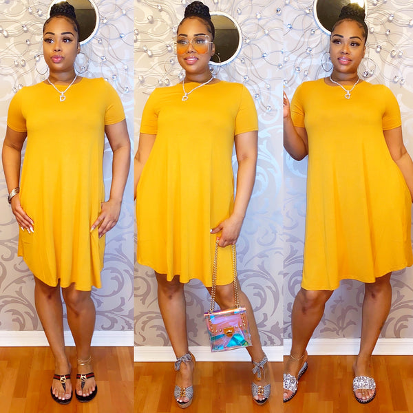 Easy Breezy Dress - Mustard