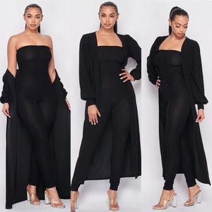Midnight Jumpsuit /Cardigan Set