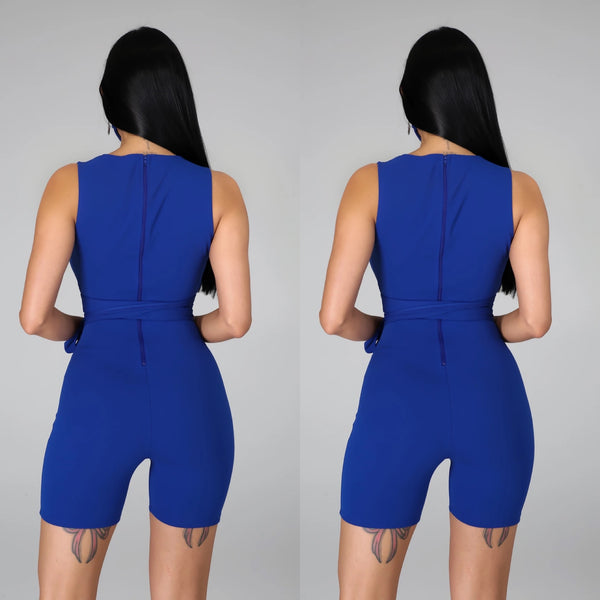 All Angles Romper Set - Blue