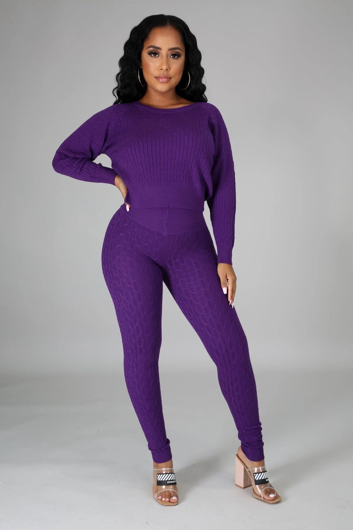 Amanda Legging Set - Purple