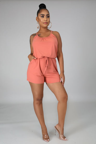 Comfy Weekend Romper - Rose